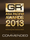 Global Recruiter Asia Pacific Awards 2013 - Commended