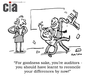 Audit Cartoon - Differences