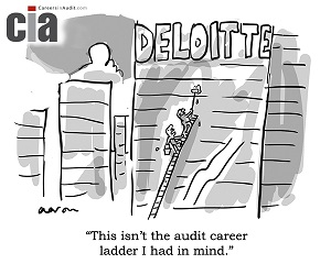 Career Ladder - Audit Cartoon